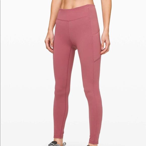 Pink Lululemon Speed Up Leggings
